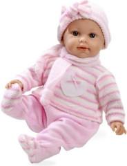 Panenka/miminko vonící 45cm růžové šaty měkké tělo plačící na baterie