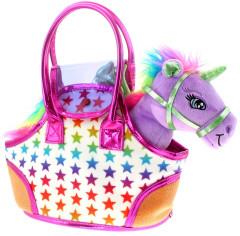 Jednorožec Sparkle Girlz se stylovou kabelkou