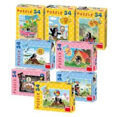 Minipuzzle Krtek 19,8x13,2cm  54 dílků v krabičce