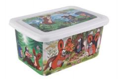 Box s víkem úložný Krtek plast 8l 32x15x22cm