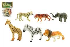Zvířátka safari 6ks plast 10cm v sáčku