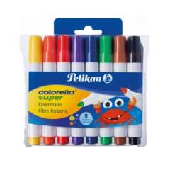 Fixy Pelikan C411, tlusté 8 barev