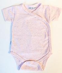 Bavlněné body krátký rukáv zavinovací Melírek Baby Service Růžová