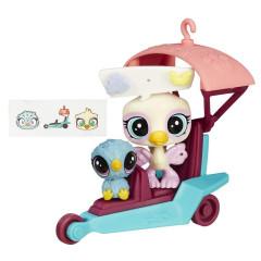 Littlest Pet Shop zvířátko s kamarádem a vozidlem - ROWDY a OPALINE 69 + 70