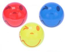Míč 14cm s úsměvem asst 3 barvy 10m+ v síťce