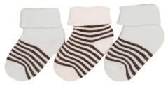 Bavlněné ponožky kojenecké s pejsky 0 - 6 měs  - 3 páry - VÝHODNÉ BALENÍ