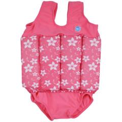 Dětský plováček - plavečky - Růžová s květy