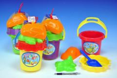 Sada na písek - kbelík,sítko,lopatka,2 bábovky
