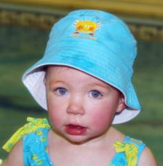 Dětský UV klobouček - tyrkysová