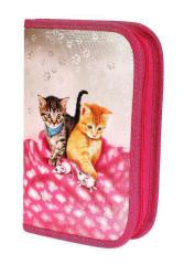 Školní penál 1-klopa plněný CATS & MICE, Emipo