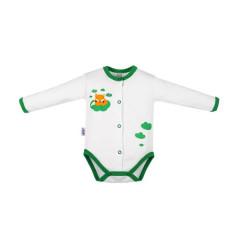 Kojenecké celorozepínací body New Baby Liška zelená