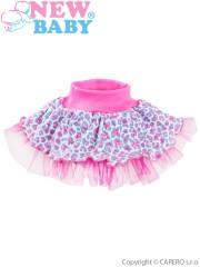 Kojenecká suknička s tylovou spodničkou New Baby Leopardík - růžová