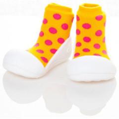 Botičky Attipas Polka Dot Yellow