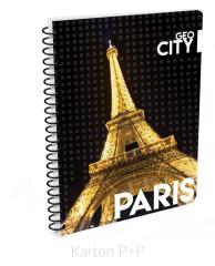 Kroužkový blok A4 GEO CITY Paris