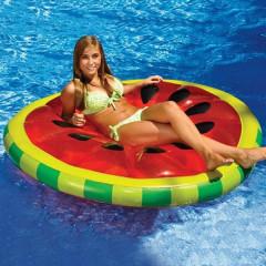 Nafukovací matrace kulatá vodní meloun 183cm Intex