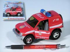 Auto Mitshubishi hasiči kov 12cm na zpětné natažení