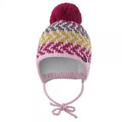 Čepice pletená zavazovací Outlast® Cik cak/růžová