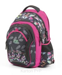 Studentský batoh fashion kytky 2018