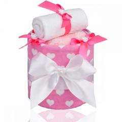 Plenkový dort malý T-tomi, růžová srdíčka