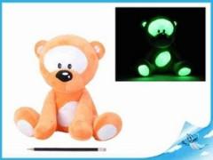 Medvídek plyš svítící ve tmě, oranžový