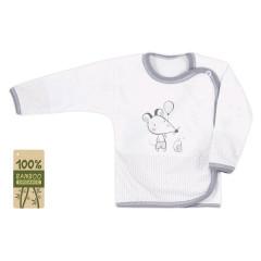 Kojenecká košilka bambusová Koala Mouse and Snail bílá