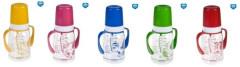 Láhev s jednobarevným potiskem a úchyty 120ml bez BPA