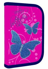 Jednopatrový penál plný Motýlci Butterfly 2016 NEW