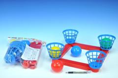 Házecí hra kříž s košíky + 4 míčky