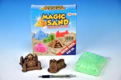 Magický - kinetický písek 450g + 2 formičky v krabici