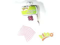 Kojenecké ponožky froté KIKKO 6 - 12 měs růžové kytičky typ 37