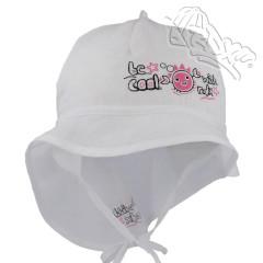 Dívčí letní vázací klobouk s plachetkou Krab Bílý RDX
