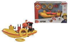 Požárník Sam Záchranný člun Neptun 20 cm s figurkou