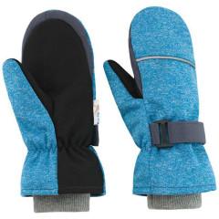 Dětské zimní rukavice Softshell Modrý melír Esito
