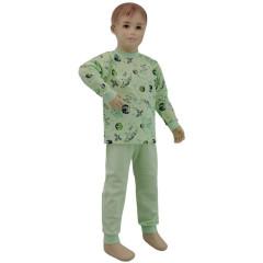 Bavlněné pyžamo zelené vesmír Esito Vel. 92 - 122