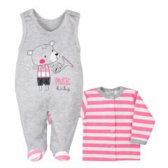 Kojenecká soupravička Bobas Fashion Perfect Baby růžová Vel. 62