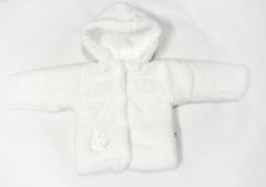 Zimní kabátek wellsoft zateplený s odepínací kapucí bílý Baby Service vel. 62 - 80