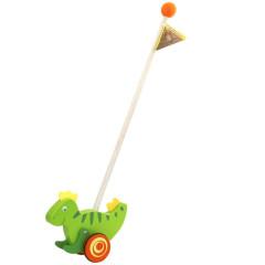 Dinosarus na tyči dřevěný