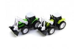 Traktor s radlicí kov/plast 10cm na zpětné natažení