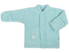 Fleecový kabátek Baby Service Pinguin zelený