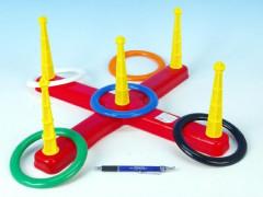 Házecí hra kroužky plast v síťce