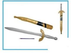 Meč hnědý 65 cm plastový