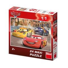 Puzzle Maxi Cars Veselý Blesk 24 dílků