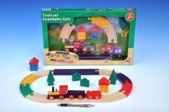 Vlak s kolejemi dřevo 19ks