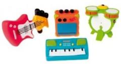 Hračka do vody hudební nástroje 4ks