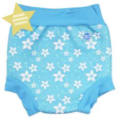 Plavky Happy Nappy - modré květy