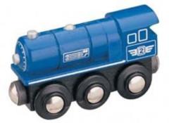Maxim lokomotiva parní modrá