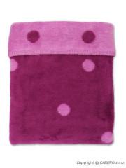 Dětská deka Womar puntíky 75x100 fialová