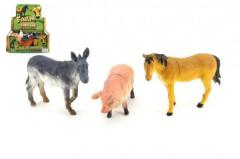 Zvířátka z farmy plast 12cm