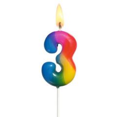 Narozeninová svíčka ČÍSLO 3