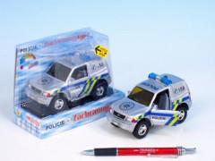 Auto Mitshubishi policie kov 12cm na zpětné natažení
